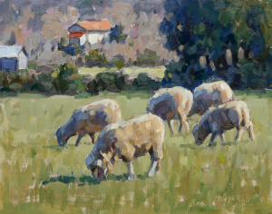 Grazing-In-Hill-Country-8x10
